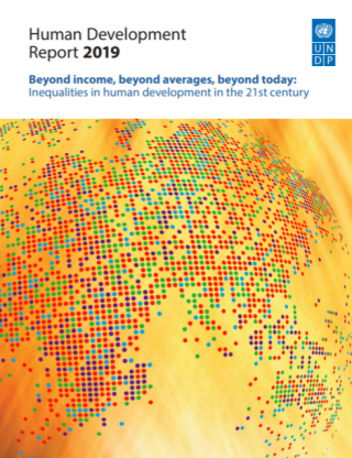 Cover-Human Development Report 2019 Beyond income, beyond averages, beyond today: Inequalities in human development in the 21st century
