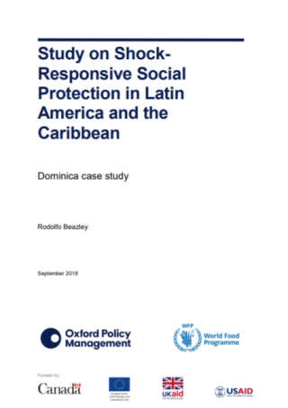 Study on Shock-Responsive Social Protection . Dominica case study-cover