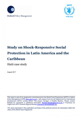 Study on Shock-Responsive Social Protection- Haiti case study - cover