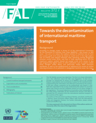 Towards the decontamination of international maritime transport