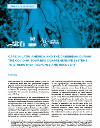Cover Care in Latin America and the Caribbean During the COVID-19