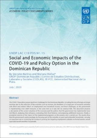 Cover Social and Economic Impacts of the COVID-19 and Policy Option in the Dominican Republic