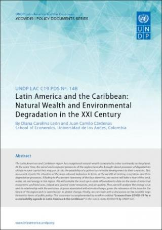 Cover Latin America and the Caribbean: Natural Wealth and Environmental Degradation in the XXI Century