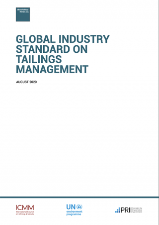 Cover Global Industry Standard on Tailings Management (the Standard)