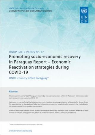 Cover Promoting socio-economic recovery in Paraguay Report