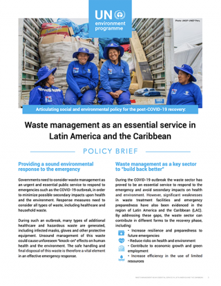 Cover Waste management as an essential service in Latin America and the Caribbean