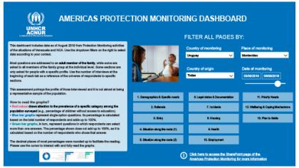 Protection monitoring, Uruguay dashboard september