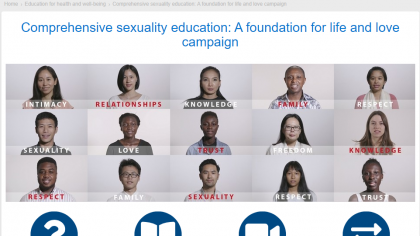 Campaign: Comprehensive Sexuality Education:  A Foundation for Life and Love