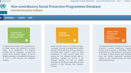 wesite-Non-contributory Social Protection Programmes Database in Latin America and the Caribbean